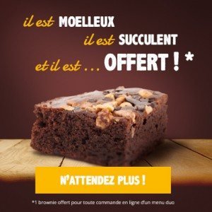 offre gourmande brownie